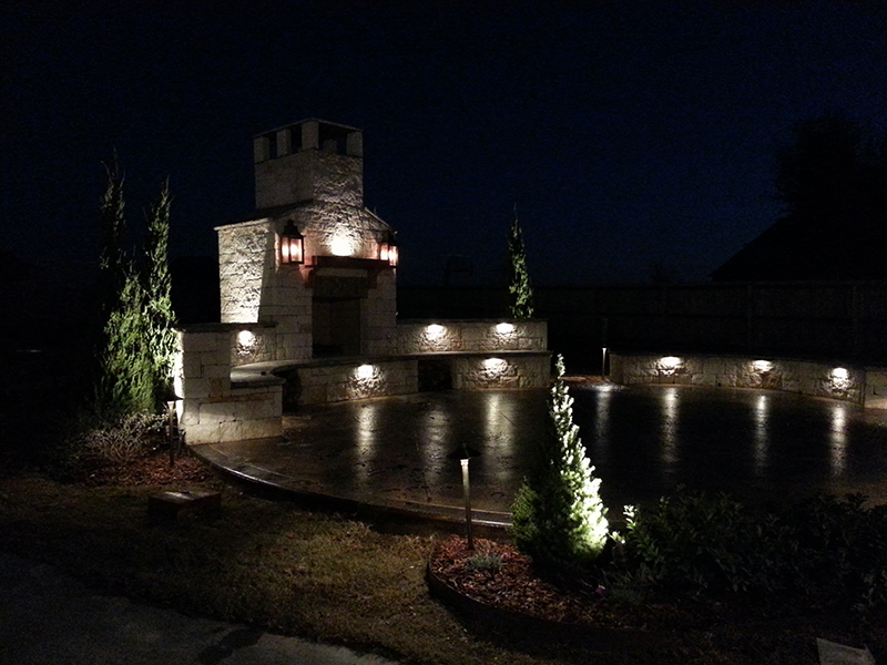 Landscape lighting project