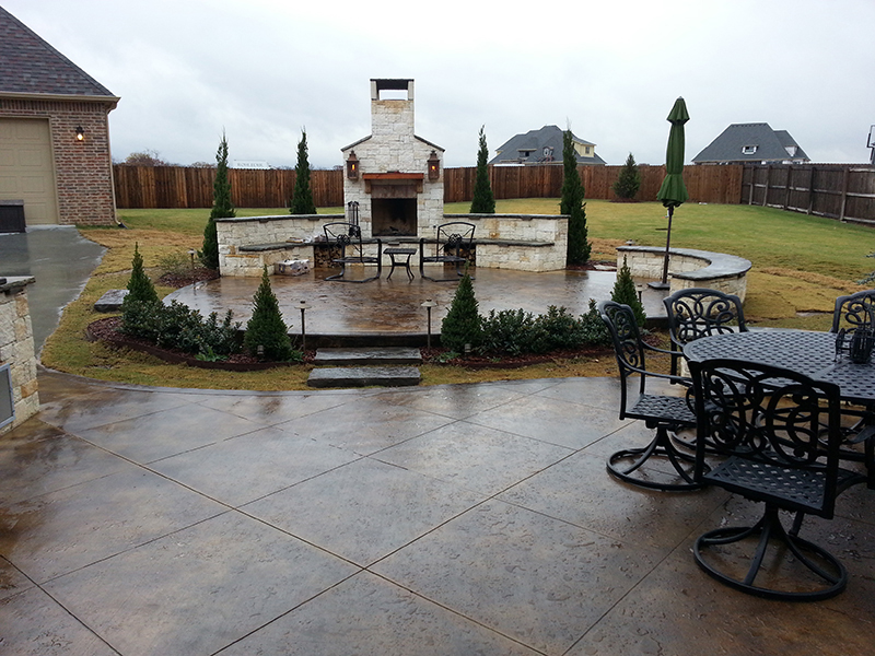 Residential hardscape project in Tulsa, Oklahoma